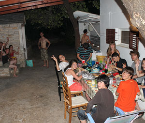 family camping in Korcula