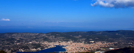 Vela Luka panoramic view